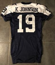 67cba8ef9 Dallas Cowboys Game Issued Keyshawn Johnson Jersey 2004 Throwback  Autographed