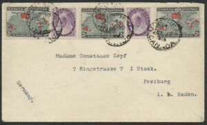 1899 Map Stamp Cover, Montreal to Germany, 2x UPU Letter Rate