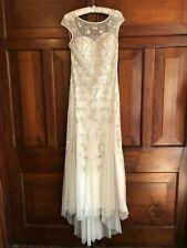 MONSOON Wedding Dress ANISTASIA UK 8 Ivory Beaded Tulle Vintage BNWT  £499