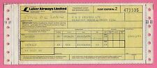 Old Airline Passenger Ticket ~ Laker Airways - P&O Cruises: Venice Gatwick 1979