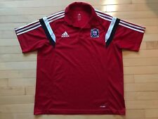 Chicago Fire Adidas ClimaLite MLS Blue Polo Shirt Men's Size XL