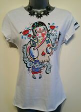 12 Top POLYPOP Skull Print BNWT White Red Blue  Summer Holiday Casual Women's