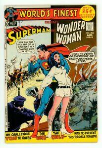 WORLD'S FINEST #204 VF- 7.5 SUPERMAN WONDER WOMAN NEAL ADAMS COVER COMIC 1971