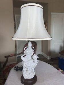 Kwan Yin Quan Yin Blanc de Chine Table Lamp, MINT!!