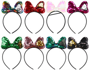 Reversible Sequins Mini Mouse Ears Hairbands Hair Accessories Headbands for Girl