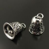 38373 Vintage Silver Tone Alloy Christmas Bell Shape Charm Pendant Finding 15pcs