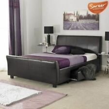 Unbranded Leather Beds with Mattresses