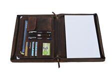 Genuine Leather Business Portfolio Padfolio Folder Executive Planner A4 Case