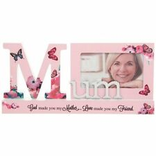 Mum Flower Reflections Word Photo Frame Block 45920