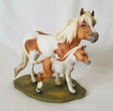 A K Kaiser W.Germany Bisque Porcelain Tan & White Mare Horse & Foal - 6332