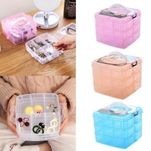 Plastic Jewelry Bead Storage Box Container Organizer Case Craft 3 Layer G9C9