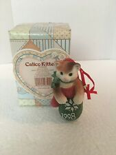 Calico Kittens 1998 Dated Ornament Kitten in Mitten