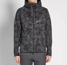 Nike Tech Fleece Camo Windrunner Hoodie Anthracite Black Size Large 835866-021