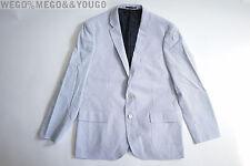 JCREW Ludlow Sportcoat Engineer Striped Cotton Navy/White C0563 Jacket 44R  $228