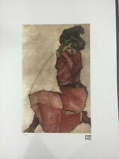 Egon Schiele Litografia cm 50x70 con autentica - ediz. SPADEM - timbro artista