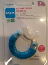 MAM Bite and Brush Teether, 3 Months, Colors May Vary