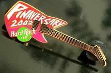 HRC Hard Rock Cafe Online Pinaversary 2002 Guitar Red Purple LE750