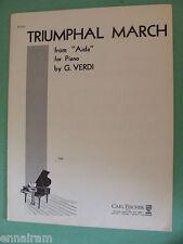 Verdi Triumphal March from opera Aida  Theo Tobani Op 328 piano sheet