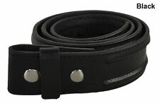 "New Adidas Golf Mens Size- 30"" Black Leather ADI DUO Belt Strap (No Buckle)"