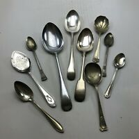 Vintage Silver Plated Table Cutlery . 10x Spoon Job Lot <CA03 / C12 (T34)