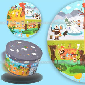 150 Pcs Kids Jigsaw Floor Round Puzzle Set Season Learning Toy & Game With Box