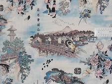 18,00€/m² => 25cmx110cm: Japan LANDSCHAFT -  Alexander Henry, Patchworkstoff