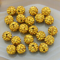10mm Rhinestone Crystal Round Disco Ball Shamballa Beads 100pcs  Piercing