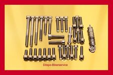 SUZUKI GSXR 1100 Stainless Steel BOLT KIT SCREW-SET MOTORE ENGINE COVER gsxr1100