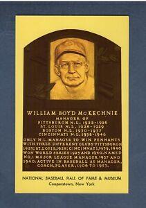 BILL McKECHNIE, Reds~Pirates~Braves| 1964 HOF postcard Curteichcolor GREEN ink B