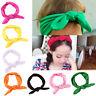 Women/Baby Girl Elastic Bow Hairband Turban Knotted Rabbit Hair Band Headband