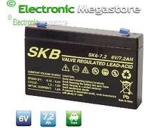 Batteria Ermetica Ricaricabile al Piombo 6V Volt 7Ah con connettore faston 4,8mm