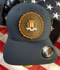 "FBI Federal Buruea of Investigation S/M Navy FlexFit Hat/Cap w 2.875"" PVC Patch"
