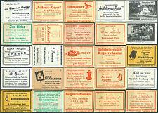 25 alte Gasthaus-Streichholzetiketten aus Deutschland #27