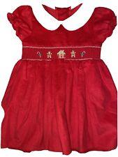 Nwt Good Lad Christmas Cord Hand Smocked Dress Size 3t