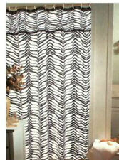 "Zebra Print Fabric Shower Curtain Popular Bath 70""x72"""