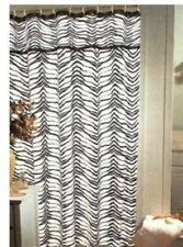 "Zebra Print Fabric Shower Curtain Popular Bath 70""x72"""