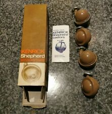 4 Original Vintage Kenrick & Sons Ball Mini Castors No 45 Shepherd Patent Boxed