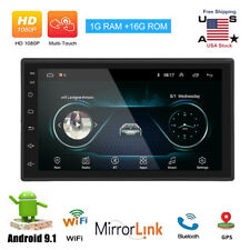 Android 9.1 Car Audio Stereo Radio 2 Din 7inch Gps Navi Mp5 Player Quad-Core