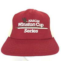 Vtg 80s Nascar Winston Cup Series Cap Racing USA Logo Mesh Snap Back Trucker Hat