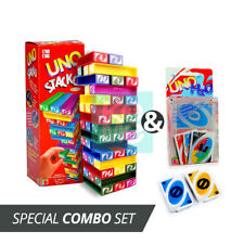 UNO STACKO TOWER & H2O CARD GAMES (COMBO OF 2) 1 FAMILY FUN PLAYING CARD GAME