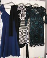 LADIES PARTY DRESS BUNDLE SIZE 10 4 DRESSES, TWO NEW WITH TAGS - LIPSY, BOOHOO