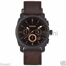 Fossil Original FS4656 Men's Machine Mid-Size Brown Leather Watch 42mm