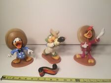1995 WDCC Three Caballeros Donald Panchito Jose Figurines