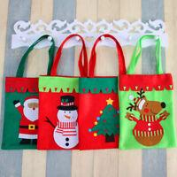 Eg _ Pupazzo di Neve Natale Babbo Alce Sacchetto per Caramelle Regalo Borsette