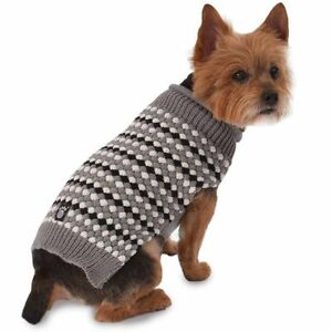NEW Large Popcorn Sweater for Dogs by Petrageous gray, black FREE SHIPPING