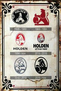 HOLDEN TIN Garage Rustic Look Vintage Tin Signs Man Cave Shed & Bar Sign