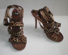 Dolce & Gabbana D&G Schuhe, Pony und Büffel Leder, Größe: 39, NP 390,- €