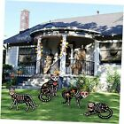 """4 Pcs Yard Signs for Halloween Decorations Outdoor, 16""""x 12"""" Scary Skeleton"""
