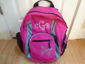 L.L. BEAN HOT PINK WITH BUTTERFLY AND EMBROIDERY