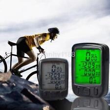 Waterproof LCD Cycle Bicycle Bike Computer Odometer Speedometer Cycling AU